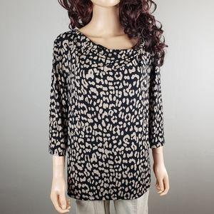 ✿❀ Black Tan Cheetah Print Top ❀✿